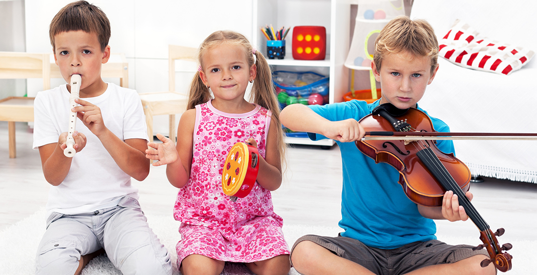 Kids with musical instruments